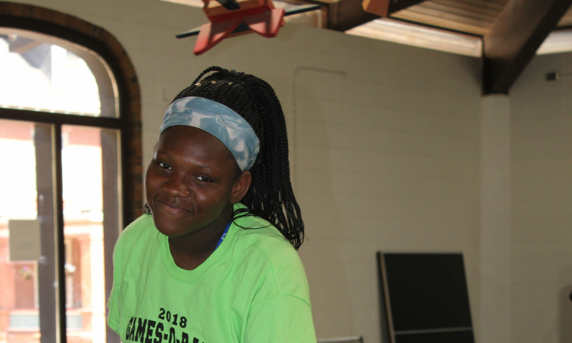 Young girl at Boys and girls club